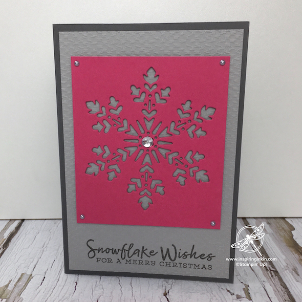 Snowflake Christmas Card Amanda Fowler Inspiring Inkin' Stampin' Up! Uk