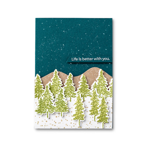 In the Pines Christmas Card Amanda Fowler Inspiring Inkin' Stampin' Up! Uk