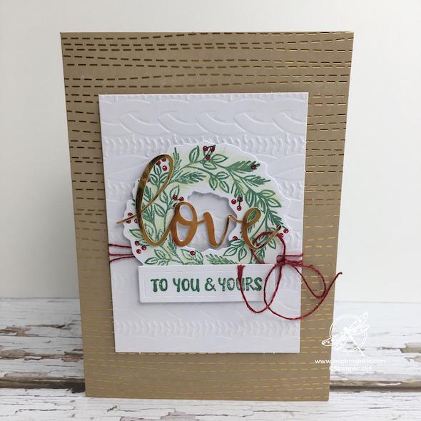 Joy to the World Christmas Card Amanda Fowler Inspiring Inkin' Stampin' Up! Uk - 1