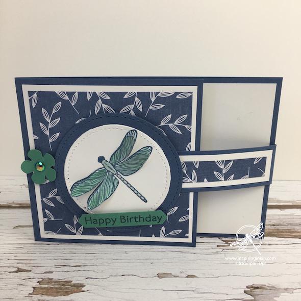Dragonfly Garden Card Stampin' Up! UK Inspiring Inkin' Amanda Fowler
