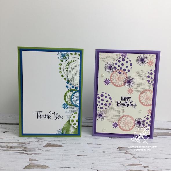 Circle Celebration Cards Stampin' Up! UK Inspiring Inkin' Amanda Fowler - 1