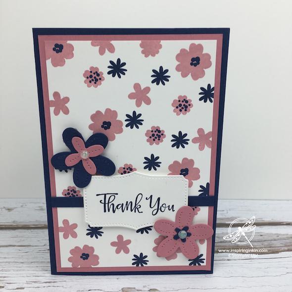 Pierced In Blooms Card Stampin' Up! UK Inspiring Inkin' Amanda Fowler