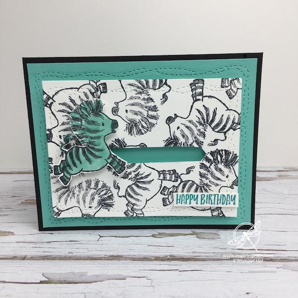 Zany Zebras Card Stampin' Up! UK Inspiring Inkin' Amanda Fowler