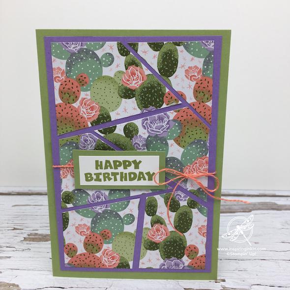 Flowering Cactus Mosaic Cards Stampin' Up! UK Inspiring Inkin' Amanda Fowler