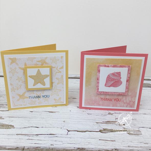 Sand and Sea Cards Stampin' Up! UK Inspiring Inkin' Amanda Fowler