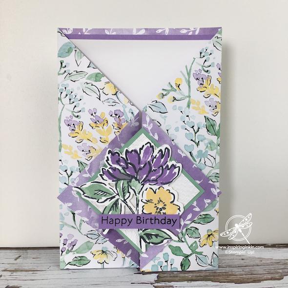 Hand-Penned Petals Birthday card Stampin' Up! UK Inspiring Inkin' Amanda Fowler