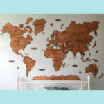 Wooden Wall Map Stampin