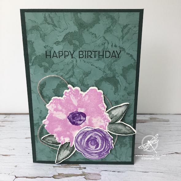 Artistically Inked Birthday Card Stampin' Up! UK Inspiring Inkin' Amanda Fowler