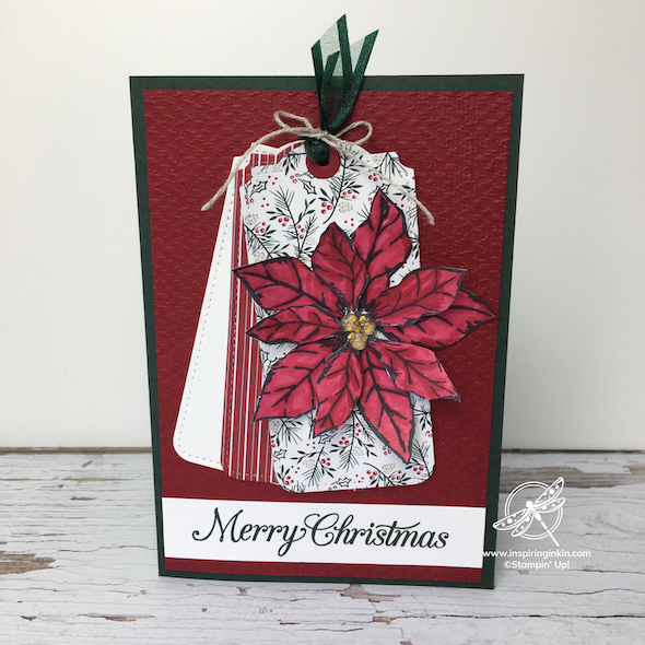 Craft and Chat : Poinsettia Tag Card