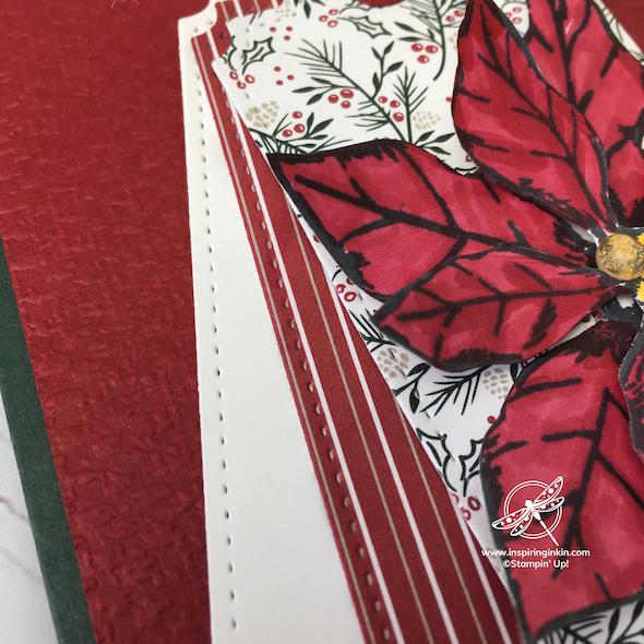 Poinsettia Tag Card Stampin' Up! UK Inspiring Inkin' Amanda Fowler - 1