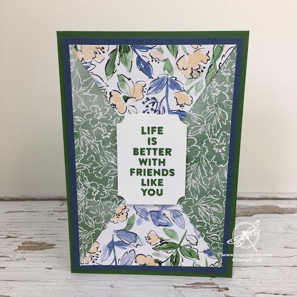 Triangle Flip Cards Stampin' Up! UK Inspiring Inkin' Amanda Fowler